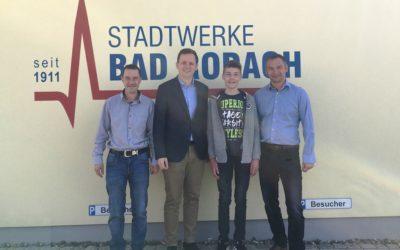 Erster Auszubildender in den Stadtwerken Bad Rodach